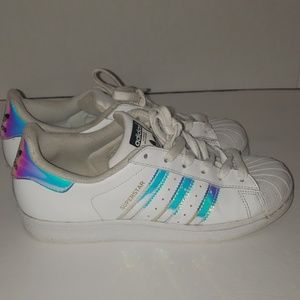 Adidas Superstar 3 Stripe Metallic Shoes size 5.5